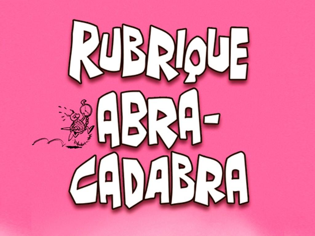 BD Rubrique Abracadabra