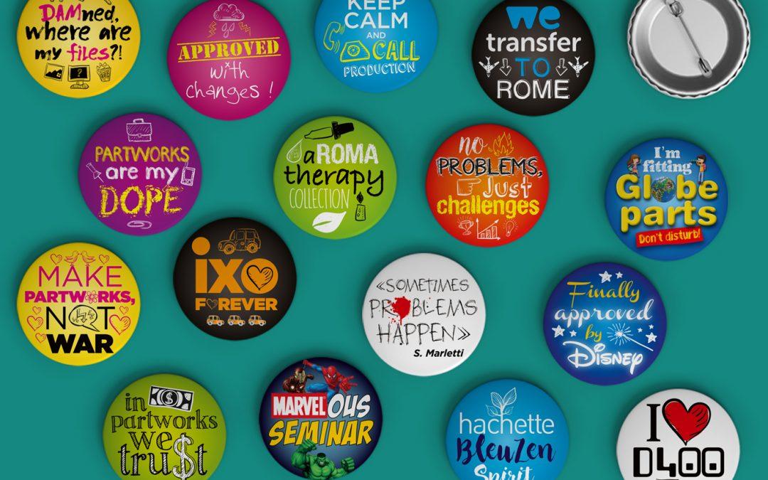 Badges séminaire Hachette