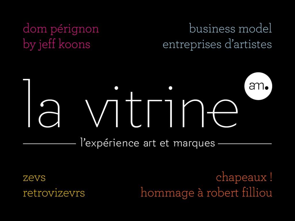 Invitations Expos La Vitrine